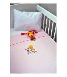 Baby Looney Tunes Πικέ Κουβέρτα des.26 Κούνιας