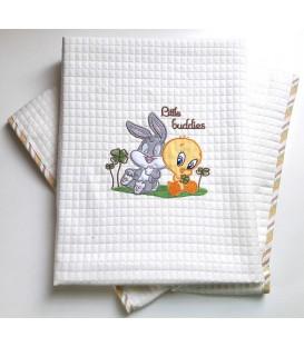 Baby Looney Tunes Κουβέρτα Αγκαλιάς Πικέ des.30a