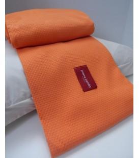 Pierre Cardin πικέ κουβέρτα des.204 υπέρδιπλη πορτοκακλί