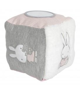Κύβος δραστηριοτητων με εσωτερικό κουδουνάκι Miffy Pink