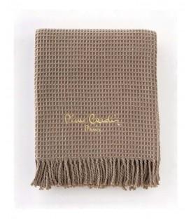 Pierre Cardin κουβέρτα καναπέ des.18 Ισπανίας μπεζ σκουρο